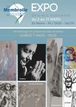 Exposition de dessins et d'illustrations