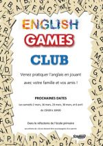 ENGLISH GAMES CLUB : pratiquer l'anglais en jouant